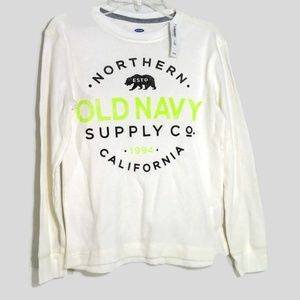 Old Navy Thermal Waffle Knit Shirt Boys Size M 8